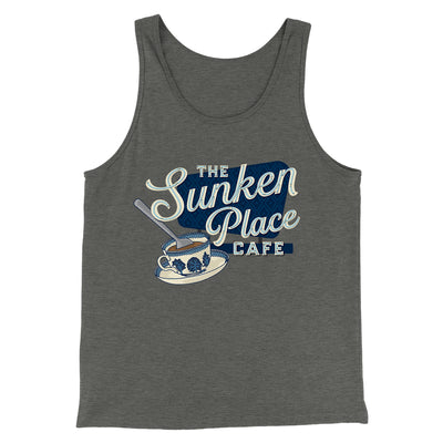 The Sunken Place Cafe Men/Unisex Tank-Tank Top-Printify-Deep Heather-L-Famous IRL