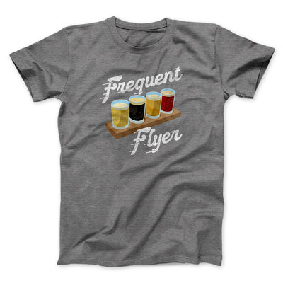 Frequent Flyer Men/Unisex T-Shirt-Men/Unisex T-Shirt-White Label DTG-Deep Heather-S-Famous IRL