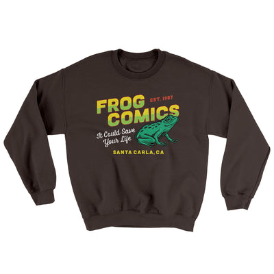 Frog Comics Ugly Sweater-Sweatshirt-Printify-Dark Chocolate-S-Famous IRL