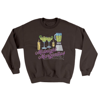 Midnight Margaritas Ugly Sweater-Sweatshirt-Printify-Dark Chocolate-S-Famous IRL