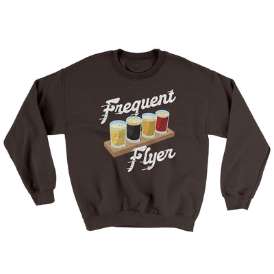 Frequent Flyer Ugly Sweater-Ugly Sweater-White Label DTG-Dark Chocolate-S-Famous IRL