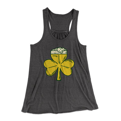 Beer Shamrock Women's Flowey Racerback Tank Top - Famous IRL Funny and Ironic T-Shirts and Apparel