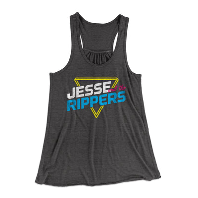 Jesse and the Rippers Women's Flowey Racerback Tank-Dark Grey Heather - Famous IRL