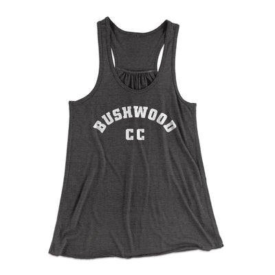 Bushwood Country Club Women's Flowey Racerback Tank Top-Dark Grey Heather - Famous IRL