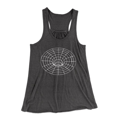 Black Hole Women's Flowey Racerback Tank Top-Dark Grey Heather - Famous IRL