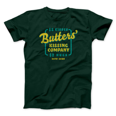 Butter's Kissing Company Men/Unisex T-Shirt-Men/Unisex T-Shirt-White Label DTG-Forest-S-Famous IRL