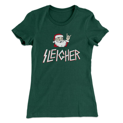 Sleigher Women's T-Shirt-Solid Forest Green - Famous IRL