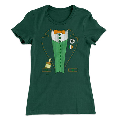 Irish Leprechaun Suit Women's T-Shirt-Solid Forest Green - Famous IRL