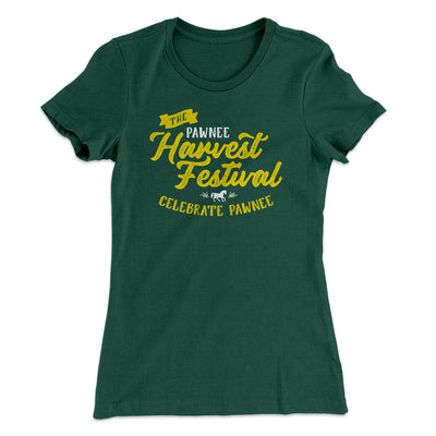 Pawnee Harvest Festival Women's T-Shirt-Solid Forest Green - Famous IRL
