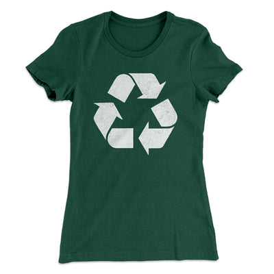 Recycle Symbol Women's T-Shirt-Solid Forest Green - Famous IRL