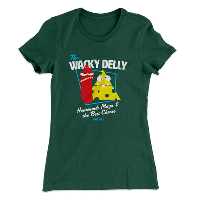 The Wacky Delly Women's T-Shirt-Solid Forest Green - Famous IRL