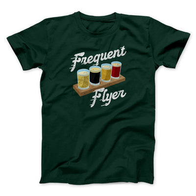 Frequent Flyer Men/Unisex T-Shirt-Men/Unisex T-Shirt-White Label DTG-Forest-L-Famous IRL