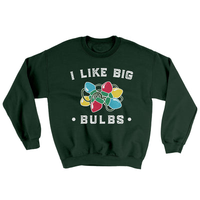 I Like Big Bulbs Men/Unisex Ugly Sweater-Forest Green - Famous IRL