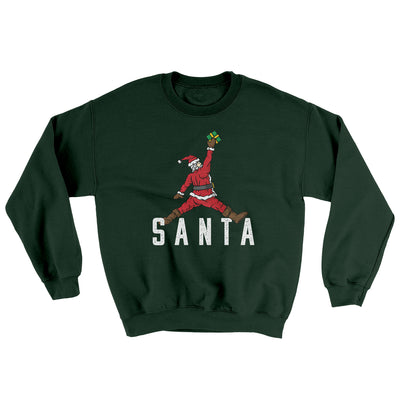 Air Santa Ugly Sweater-Ugly Sweater-White Label DTG-Forest Green-S-Famous IRL