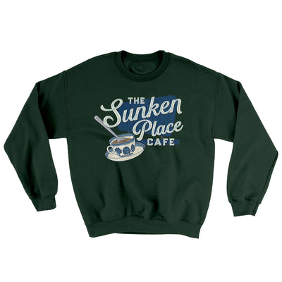 The Sunken Place Cafe Ugly Sweater-Sweatshirt-Printify-Forest Green-S-Famous IRL