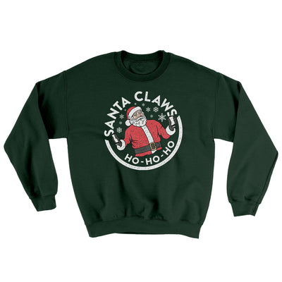 Santa Claws Ugly Sweater-Ugly Sweater-White Label DTG-Forest Green-S-Famous IRL