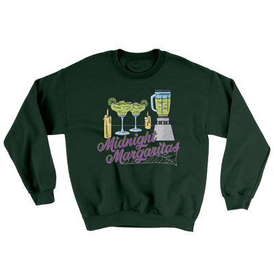 Midnight Margaritas Ugly Sweater-Sweatshirt-Printify-Forest Green-S-Famous IRL