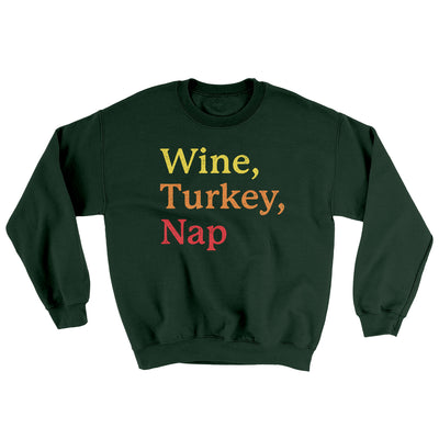 Wine, Turkey, Nap Ugly Sweater