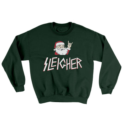 Sleigher Men/Unisex Ugly Sweater-Forest Green - Famous IRL