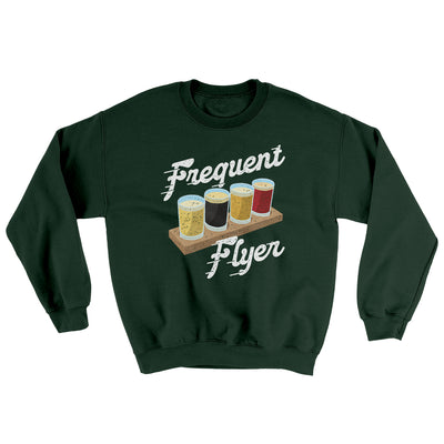 Frequent Flyer Ugly Sweater-Ugly Sweater-White Label DTG-Forest Green-S-Famous IRL