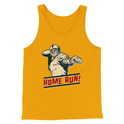 Home Run! Men/Unisex Tank-Tank Top-Printify-Gold-S-Famous IRL