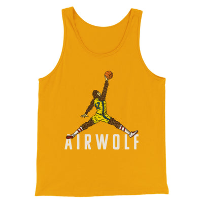 Air Wolf Men/Unisex Tank-Gold - Famous IRL