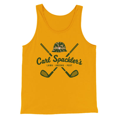 Carl Spackler's Groundskeeping Men/Unisex Tank-Gold - Famous IRL