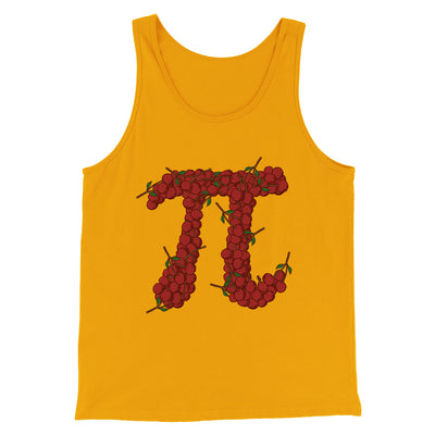 Cherry Pi Men/Unisex Tank-Gold - Famous IRL