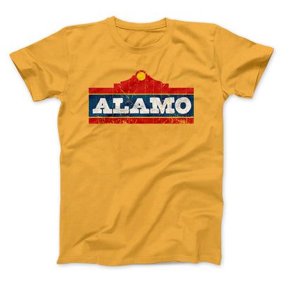 Alamo Beer Men/Unisex T-Shirt-Gold - Famous IRL