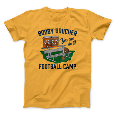 Bobby Boucher Football Camp Men/Unisex T-Shirt-Gold - Famous IRL