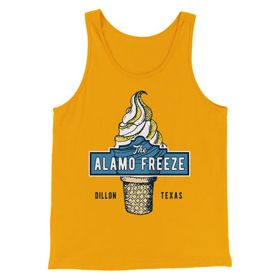 The Alamo Freeze Men/Unisex Tank-Gold - Famous IRL