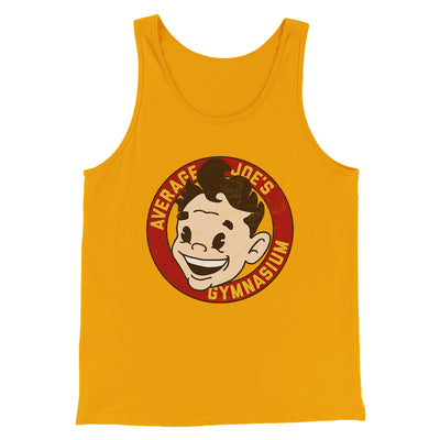 Average Joe's Gymnasium Men/Unisex Tank-Gold - Famous IRL