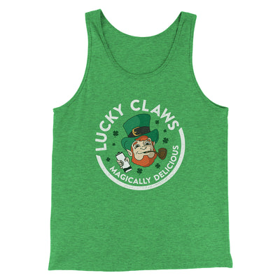 Lucky Claws Men/Unisex Tank-Men/Unisex Tank Top-White Label DTG-Green TriBlend-S-Famous IRL