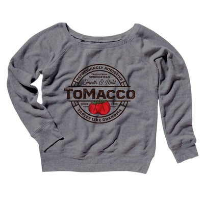 Tomacco Women's Scoopneck Sweatshirt-Women's Off The Shoulder Sweatshirt-White Label DTG-Grey TriBlend-S-Famous IRL