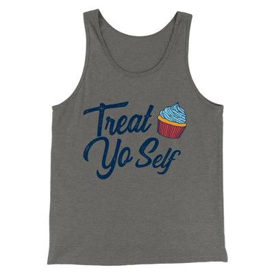 Treat Yo' Self Men/Unisex Tank-Grey TriBlend - Famous IRL