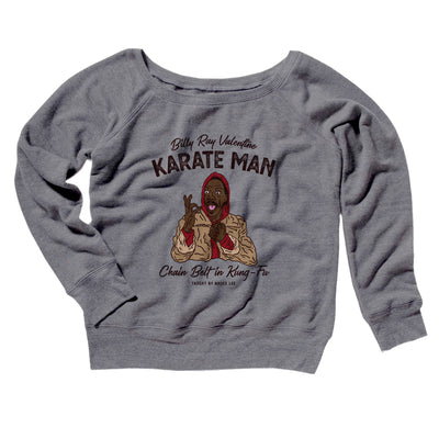 Billy Ray Valentine Karate Man Women's Off The Shoulder Sweatshirt - Famous IRL Funny and Ironic T-Shirts and Apparel