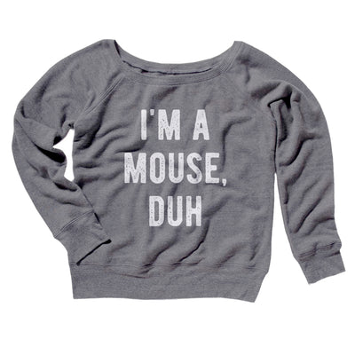 I'm A Mouse Costume Women's Scoopneck Sweatshirt