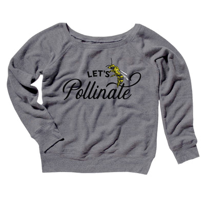 Let's Pollinate Women's Off The Shoulder Sweatshirt-Grey TriBlend - Famous IRL
