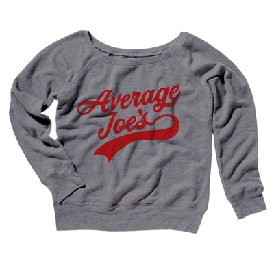 Average Joe's Team Uniform Women's Off The Shoulder Sweatshirt - Famous IRL Funny and Ironic T-Shirts and Apparel