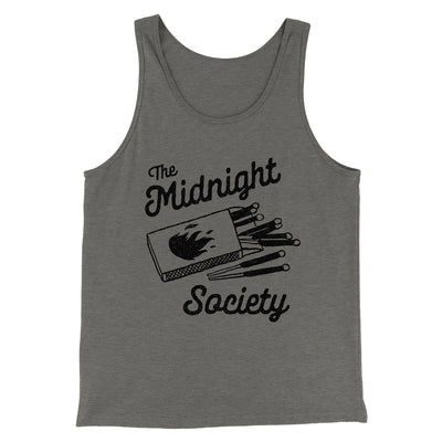 The Midnight Society Men/Unisex Tank-Tank Top-Printify-Grey TriBlend-S-Famous IRL