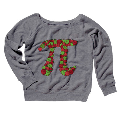 Apple Pi Women's Off The Shoulder Sweatshirt - Famous IRL Funny and Ironic T-Shirts and Apparel