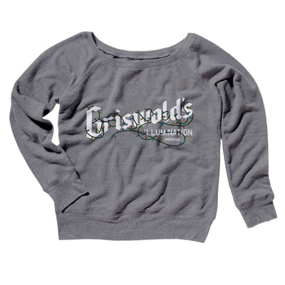 Griswold's Illumination Women's Scoopneck Sweatshirt-Grey TriBlend - Famous IRL