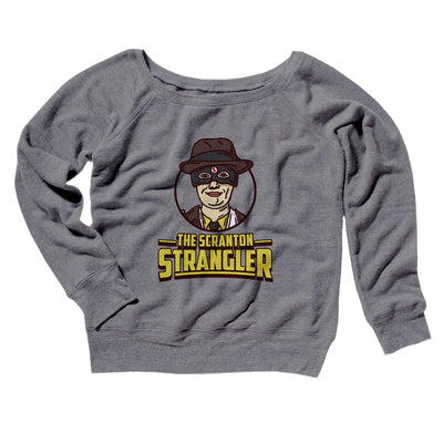 The Scranton Strangler Women's Off The Shoulder Sweatshirt-Grey TriBlend - Famous IRL