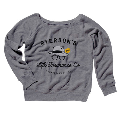 Ryerson's Women's Off The Shoulder Sweatshirt-Grey TriBlend - Famous IRL