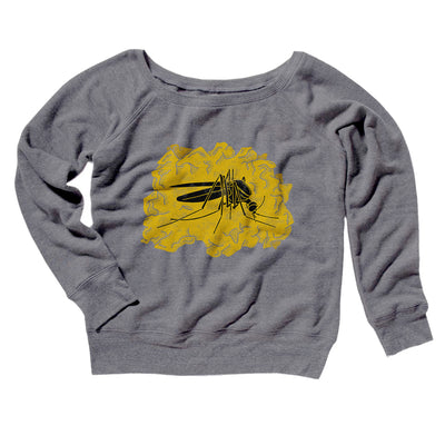 Amber Mosquito Women's Off The Shoulder Sweatshirt - Famous IRL Funny and Ironic T-Shirts and Apparel