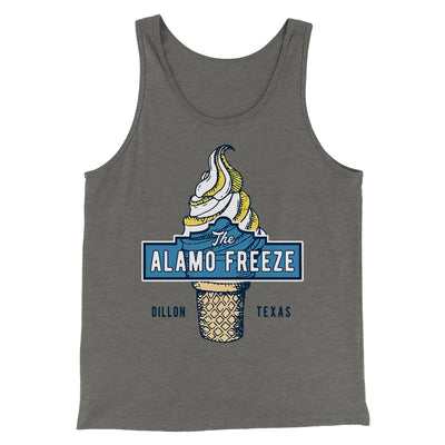 The Alamo Freeze Men/Unisex Tank-Grey TriBlend - Famous IRL