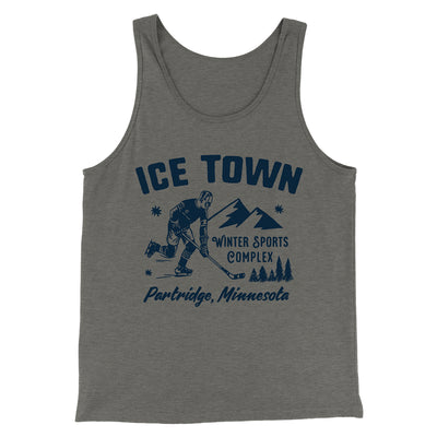 Ice Town Sports Complex Men/Unisex Tank-Grey TriBlend - Famous IRL