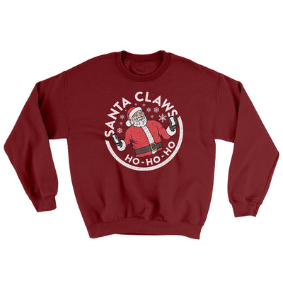 Santa Claws Ugly Sweater-Ugly Sweater-White Label DTG-Garnet-S-Famous IRL
