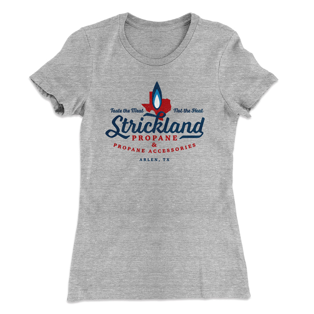4ec5fa07dbcb0 Strickland Propane Women s T-Shirt-90 10 Heather Gray - Famous IRL