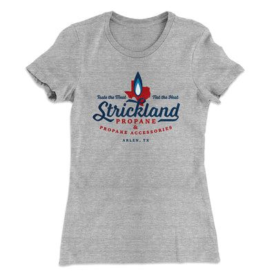 Strickland Propane Women's T-Shirt-90/10 Heather Gray - Famous IRL